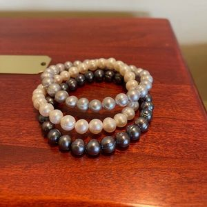 Set of Three Honora Pearl Stretch Bracelets